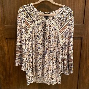 Printed Oversized Blouse